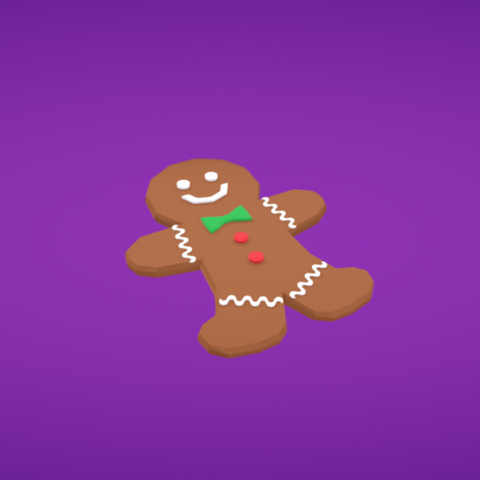Free 3D printer file Gingerbread man, Colorful3D