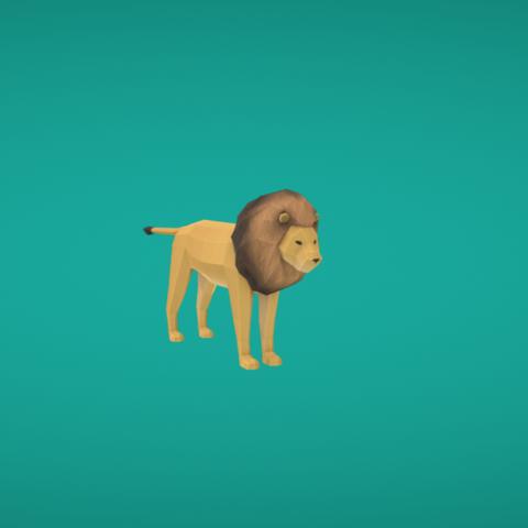 Free 3D printer model Lion, Colorful3D
