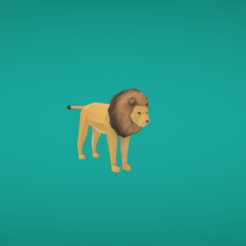 Free 3D printer model Lion, Colorful3D