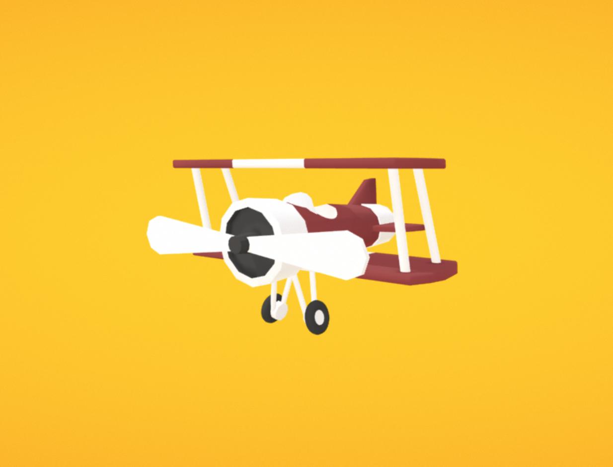 Capture d'écran 2018-01-11 à 18.12.22.png Download free OBJ file Airplane • 3D printing template, Colorful3D
