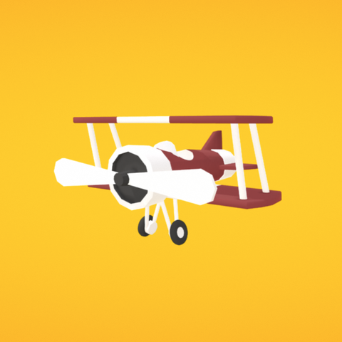 Free Airplane 3D printer file, Colorful3D