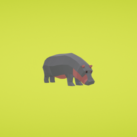 Free STL Hippopotamus, Colorful3D