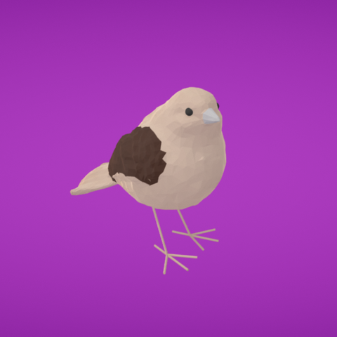 Download free 3D printing models Sparrow, Colorful3D