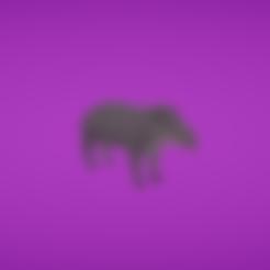 Free 3d model Tapir, Colorful3D