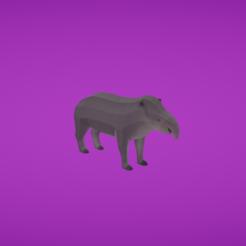 modelo stl gratis Tapir, Colorful3D