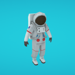 Free STL Astronaut, Colorful3D