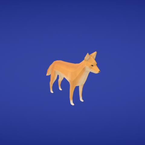 Free Dingo STL file, Colorful3D