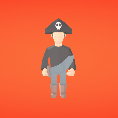 Free STL Pirate, Colorful3D