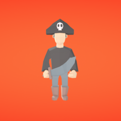Free STL file Pirate, Colorful3D