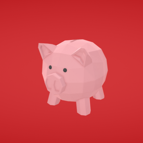 Download free OBJ file Piggy bank • 3D printer object, Colorful3D