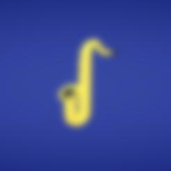 Objet 3D gratuit Saxophone, Colorful3D