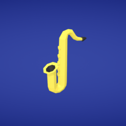 Free STL file Saxophone, Colorful3D