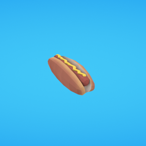 Free stl file Hot dog, Colorful3D