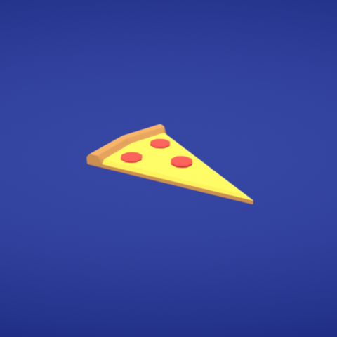 Free 3D print files Pizza slice, Colorful3D