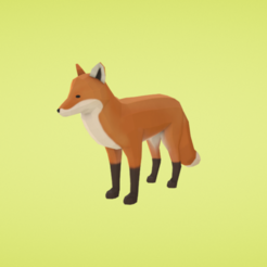 Download free 3D printer designs Fox, Colorful3D