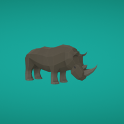 Free 3D printer files Rhinoceros, Colorful3D