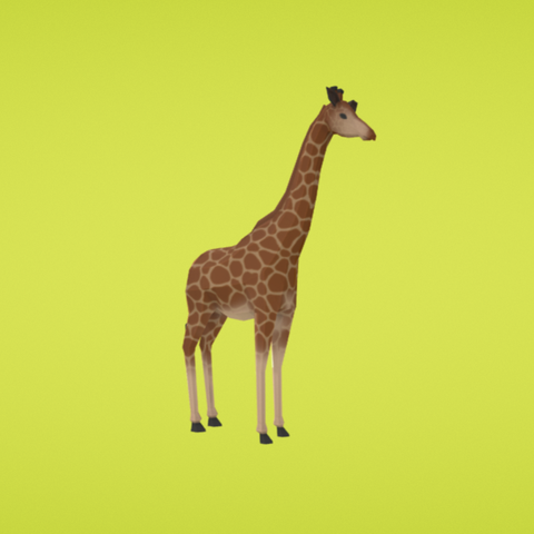 Free Giraffe 3D printer file, Colorful3D