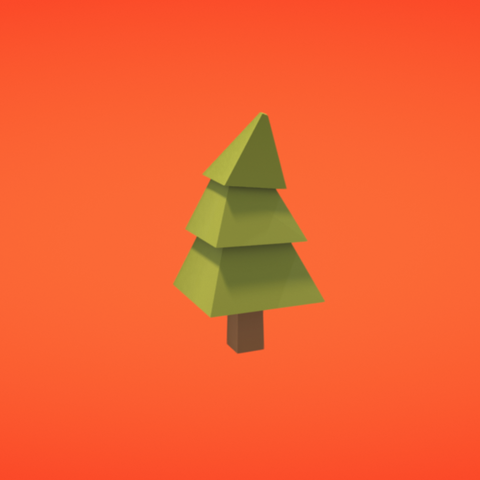 Free 3d printer files Pine tree, Colorful3D