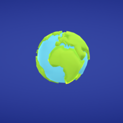 Download free 3D printing templates Earth, Colorful3D