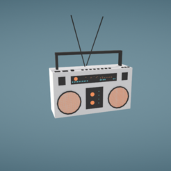 modelo stl gratis Boom box, Colorful3D