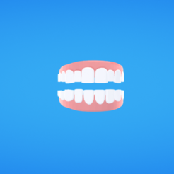 Free 3d printer model Teeth, Colorful3D