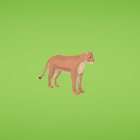 Free STL Cougar, Colorful3D