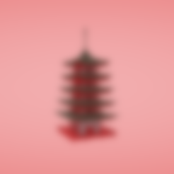 Download free 3D model Pagoda, Colorful3D