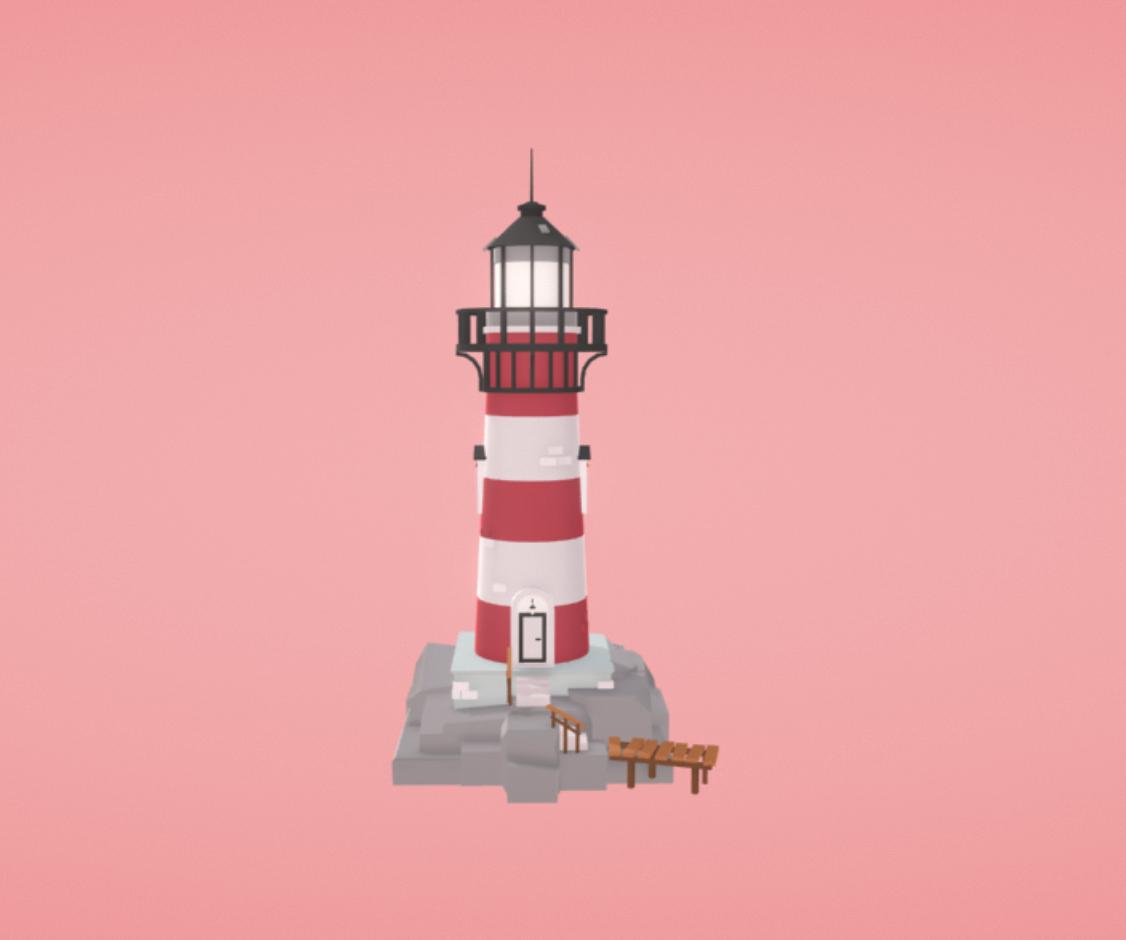 Capture d'écran 2018-01-11 à 16.32.21.png Download free OBJ file Lighthouse • 3D printing template, Colorful3D