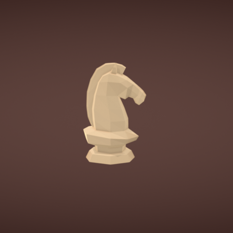 Free STL Knight chess piece, Colorful3D