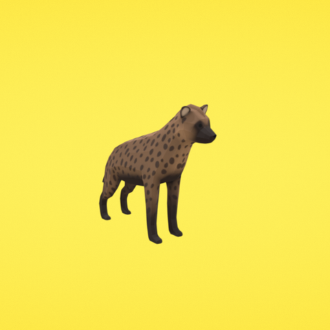 Free Spotted hyena 3D printer file, Colorful3D