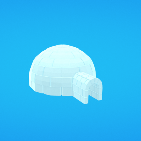 Free 3d printer model Igloo, Colorful3D