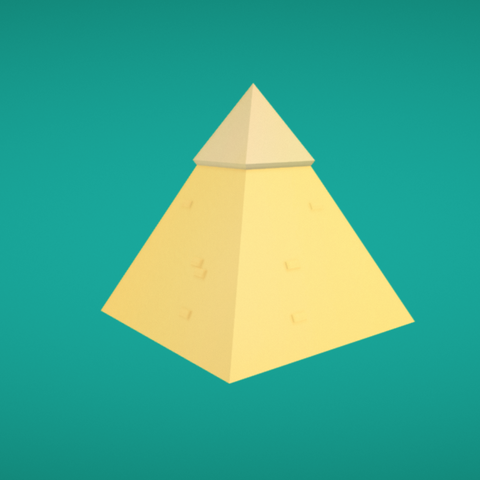 Free Pyramid 3D model, Colorful3D