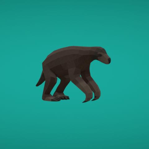 Impresiones 3D gratis Pereza de tierra, Colorful3D