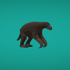 Free stl Ground sloth, Colorful3D