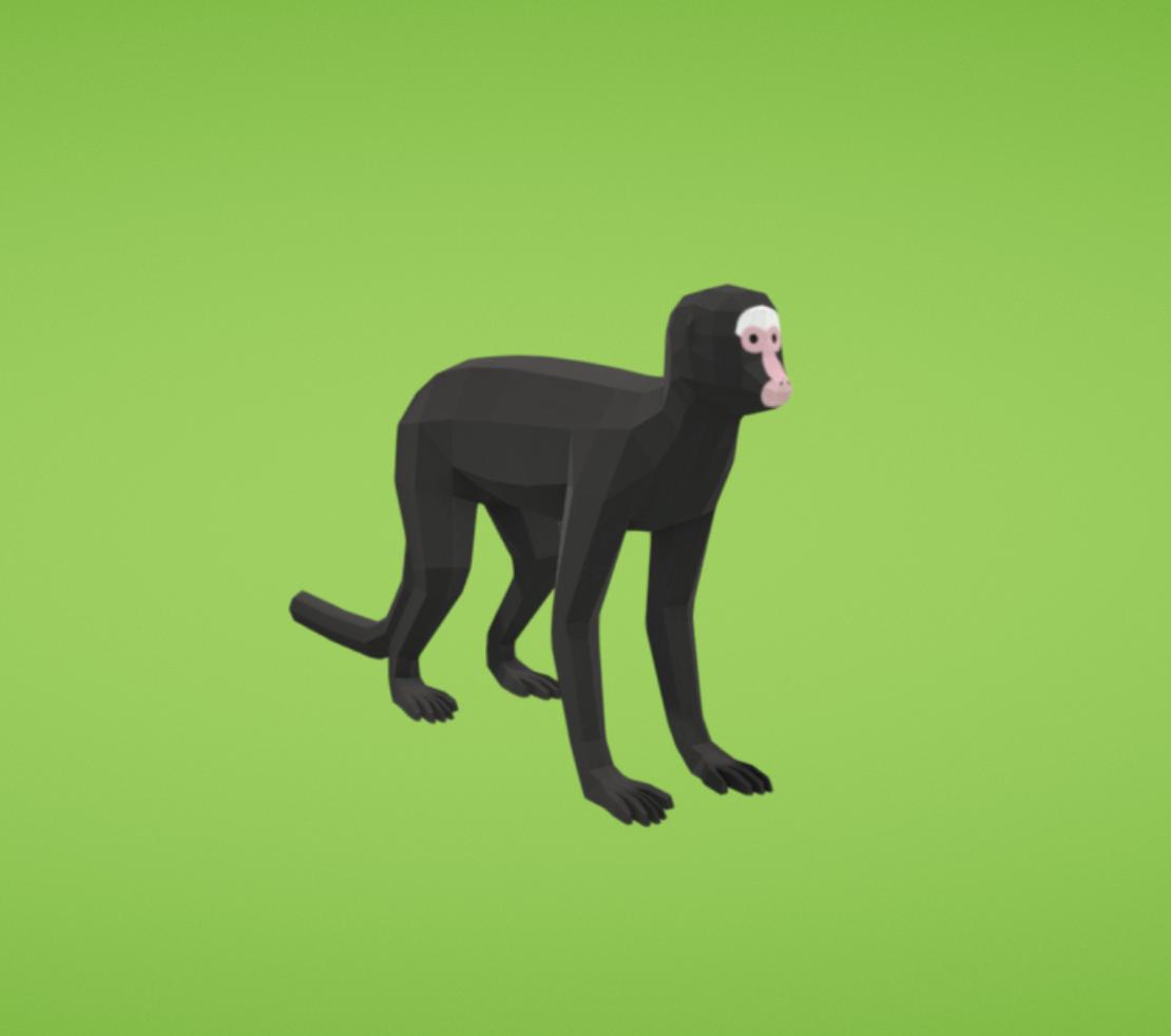 Capture d'écran 2017-11-14 à 19.32.33.png Download free OBJ file Spider monkey • 3D printer design, Colorful3D