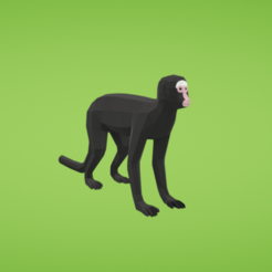Free 3D printer file Spider monkey, Colorful3D