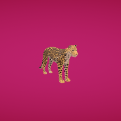 Modelo STL Jaguar gratis, Colorful3D