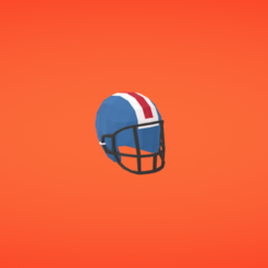 Free 3D printer model Football helmet, Colorful3D
