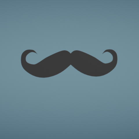 Free 3d printer model Mustache, Colorful3D