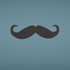 Fichier imprimante 3D gratuit Moustache, Colorful3D