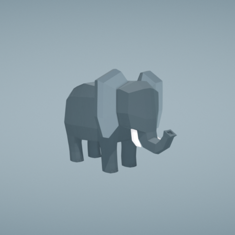 Free STL Elephant, Colorful3D