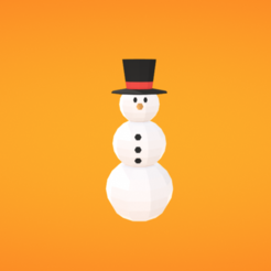 Download free 3D printer templates Snowman, Colorful3D