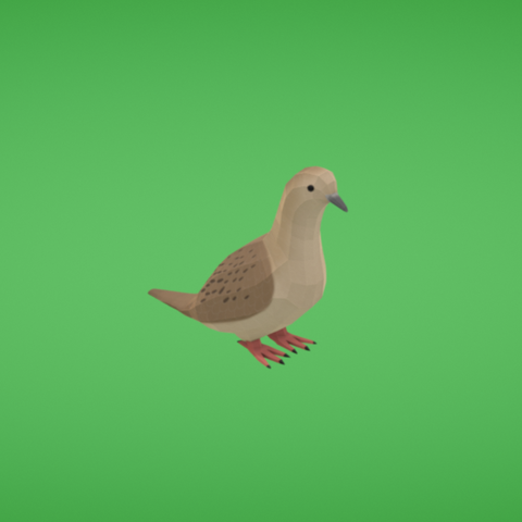 Free stl file Mourning dove, Colorful3D