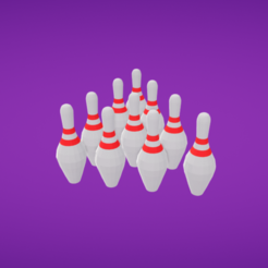 Download free 3D print files Bowling pins, Colorful3D