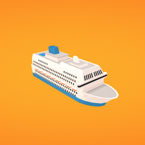 Free STL file Cruise liner, Colorful3D