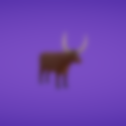 Free stl Ankole longhorn, Colorful3D