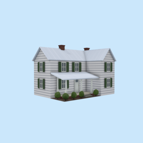 Free 3d printer model Farm house, Colorful3D