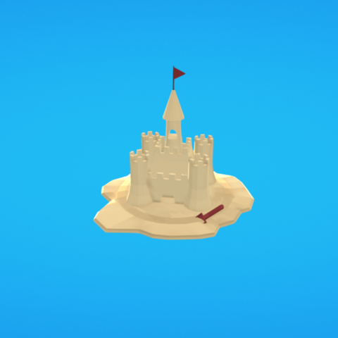 Free 3d printer model Sand castle, Colorful3D