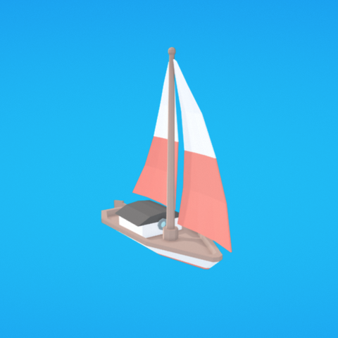 Free Sailboat STL file, Colorful3D