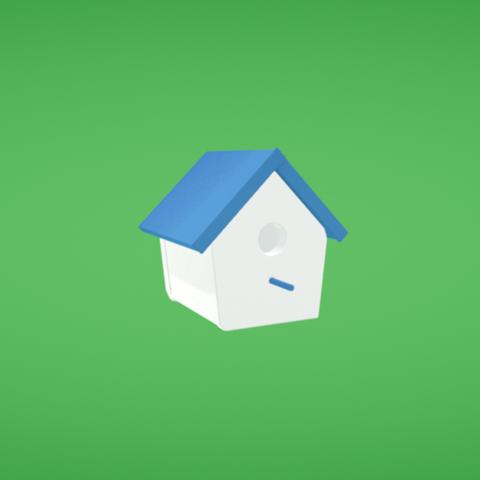 Free Bird house STL file, Colorful3D